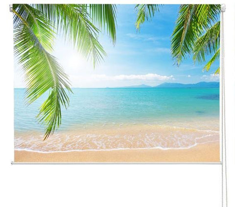 Tropical palm Beach Printed Picture Photo Roller Blind - RB281 - Art Fever - Art Fever