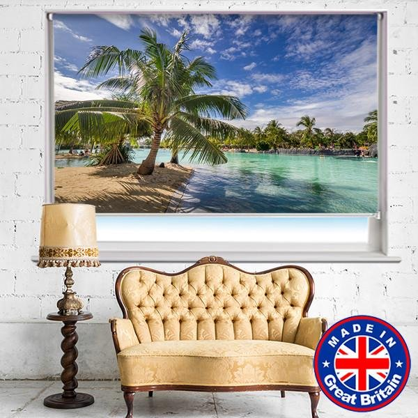 Tropical Palm Paradise Printed Picture Photo Roller Blind - RB569 - Art Fever - Art Fever