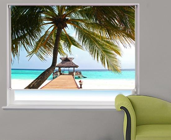 Tropical Palm Printed Photo Picture Roller Blind - RB330 - Art Fever - Art Fever