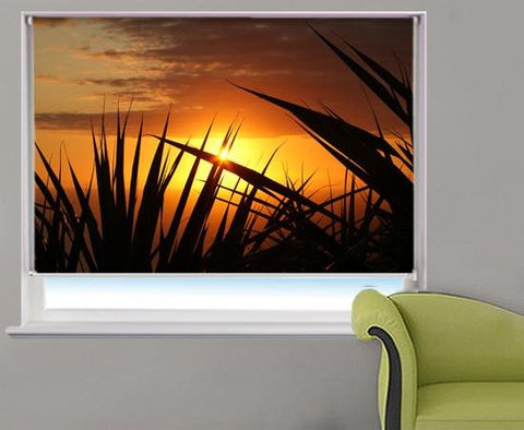 Tropical Sunset Beach Printed Photo Picture Roller Blind - RB333 - Art Fever - Art Fever