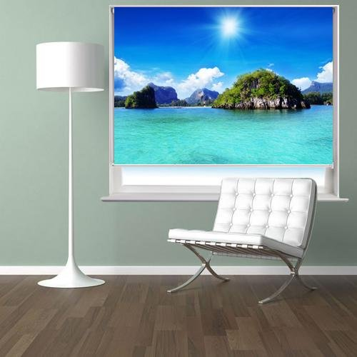 Tropical Thailand Island Printed Picture Photo Roller Blind - RB662 - Art Fever - Art Fever
