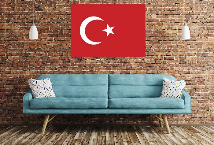 Turkish Flag Image Printed Onto A Single Panel Canvas - SPC47 - Art Fever - Art Fever