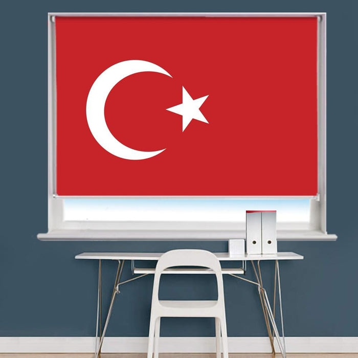 Turkish Turkey Flag Printed Picture Roller Blind - RB759 - Art Fever - Art Fever