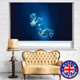 Two Jelly Fish the Sea Printed Picture Photo Roller Blind - Art Fever - Art Fever