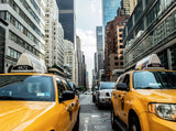 Two Yellow Taxi Cabs NYC Printed Picture Photo Roller Blind - RB684 - Art Fever - Art Fever