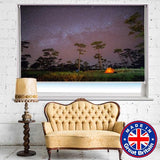 Under the Night Stars and Milky Way Printed Picture Photo Roller Blind - Art Fever - Art Fever