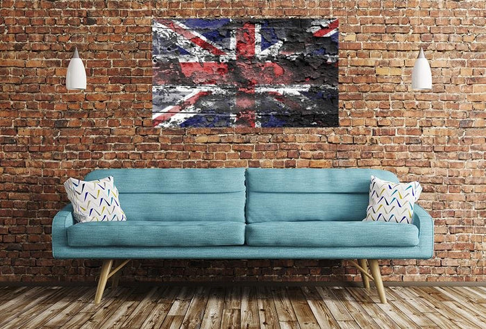 United Kingdom Flag Image Printed Onto A Single Panel Canvas - SPC38 - Art Fever - Art Fever