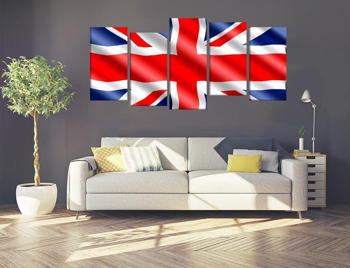 United Kingdom Flag Multi Panel Canvas Print wall Art - MPC32 - Art Fever - Art Fever