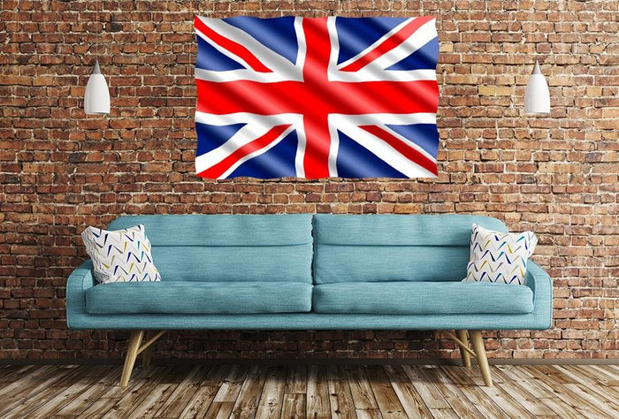 United Kingdom Flag Ripple Image Printed Onto A Single Panel Canvas - SPC40 - Art Fever - Art Fever