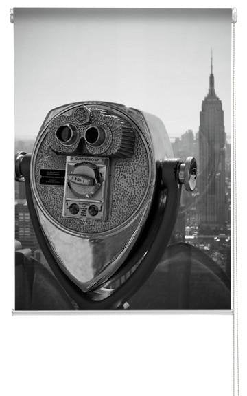 View out to New York Printed Picture Photo Roller Blind - RB293 - Art Fever - Art Fever