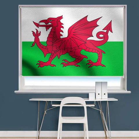 Wales Flag Printed Picture Roller Blind - RB763 - Art Fever - Art Fever