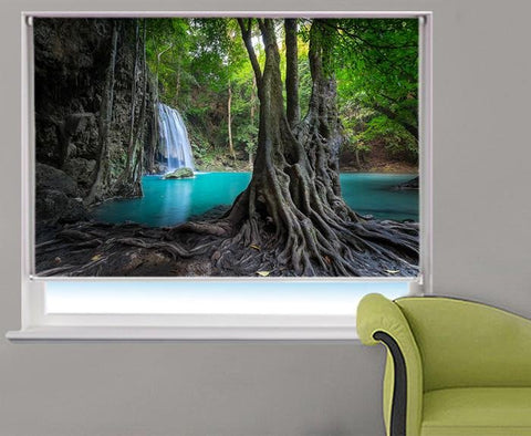 Waterfall and the hidden Lake Printed Picture Photo Roller Blind - RB413 - Art Fever - Art Fever