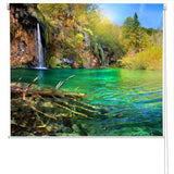 Waterfall In Plitvice Lakes, Croatia Printed Picture Photo Roller Blind - RB106 - Art Fever - Art Fever