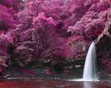 Waterfall in the Purple Landscape Printed Picture Photo Roller Blind - RB430 - Art Fever - Art Fever