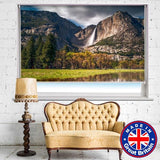 Waterfall Mountain Nature Scene Printed Picture Photo Roller Blind - RB628 - Art Fever - Art Fever