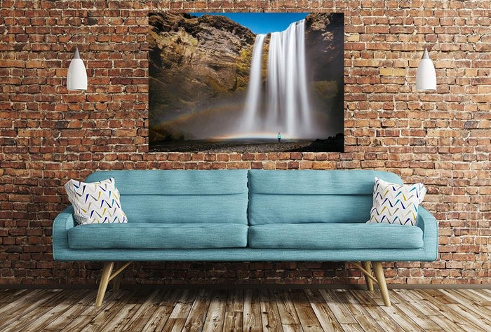 Waterfall Rocks Scene Image Printed Onto A Single Panel Canvas - SPC87 - Art Fever - Art Fever