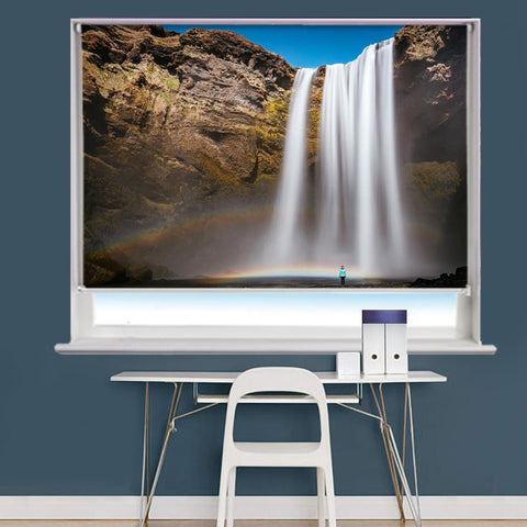 Waterfall Rocks Scene Image Printed Roller Blind - RB827 - Art Fever - Art Fever