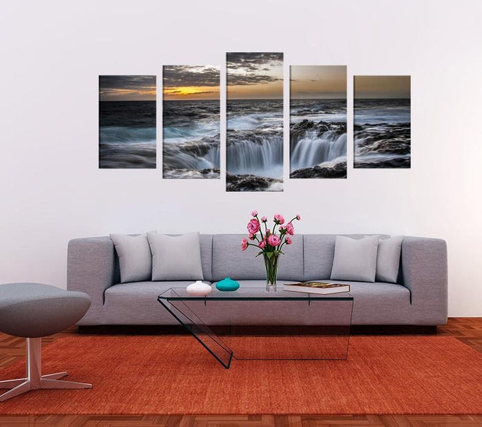 Waterfall Scene Image Multi Panel Canvas Print wall Art - MPC138 - Art Fever - Art Fever