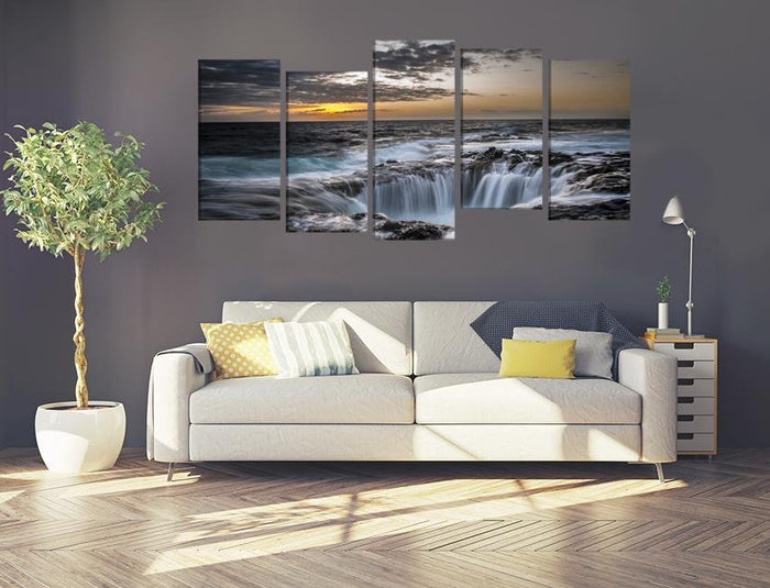 Waterfall Scene Image Multi Panel Canvas Print wall Art - MPC139 - Art Fever - Art Fever