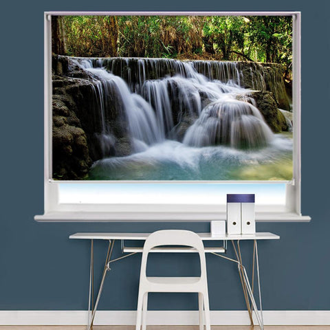 Waterfall Scene Image Printed Roller Blind - RB826 - Art Fever - Art Fever