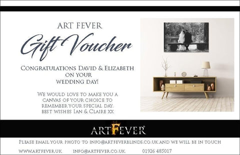 Wedding Canvas Print - Gift Voucher - Art Fever - Art Fever