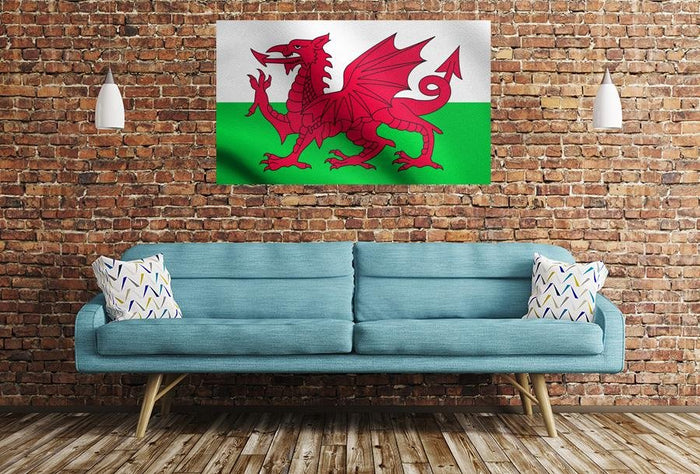 Welsh Flag Image Printed Onto A Single Panel Canvas - SPC51 - Art Fever - Art Fever