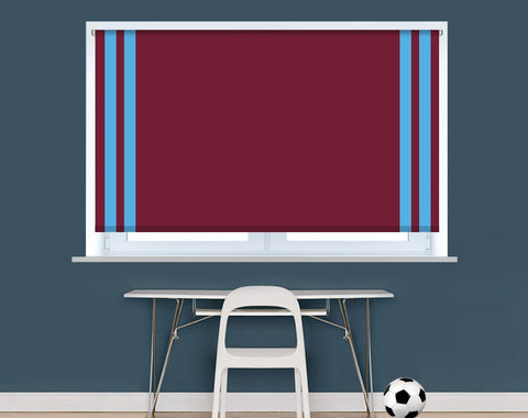 West Ham Football colours Image Printed Picture Photo Roller Blind - RB950 - Art Fever - Art Fever