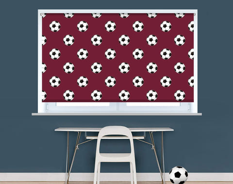 West Ham Football Pattern Image Printed Picture Photo Roller Blind - RB949 - Art Fever - Art Fever