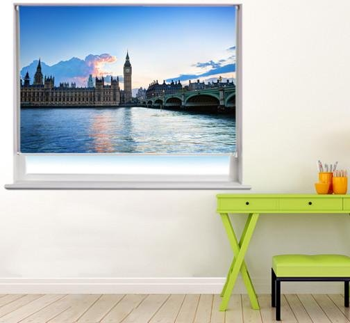 Westminster at sunset Printed Picture Photo Roller Blind - RB265 - Art Fever - Art Fever