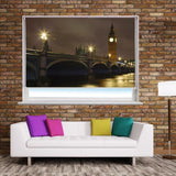 Westminster bridge at night Printed Picture Photo Roller Blind - RB261 - Art Fever - Art Fever
