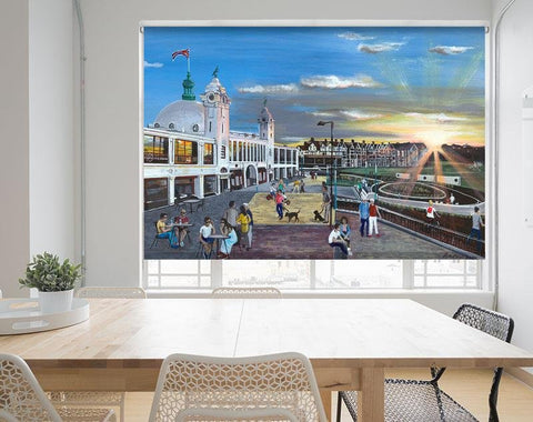 Whitley Bay Spanish City by Pam Morton Printed Picture Roller Blind - RB865 - Art Fever - Art Fever