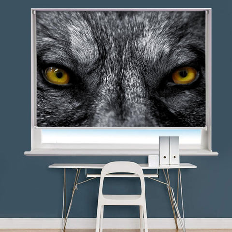 Wild Wolf Eyes Image Printed Roller Blind - RB958 - Art Fever - Art Fever