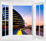 WIM107 - London City Hall Sunset - Instant Self Adhesive Wall Art - Art Fever - Art Fever