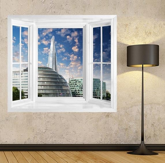 WIM160 - View of the Shard window frame mural - Art Fever - Art Fever