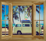 WIM262 - Window Mural view of the VW Campervan - Art Fever - Art Fever