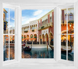 WIM272 - View of Venice Window Frame Mural - Art Fever - Art Fever