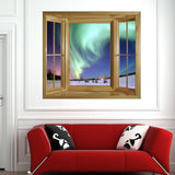 WIM276 - Faux window frame view of the Northern Lights - Art Fever - Art Fever