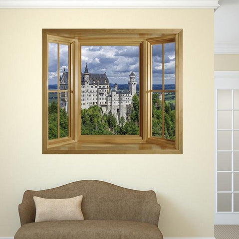 WIM279 - window frame view of the Neuschwanstein Castle - Art Fever - Art Fever