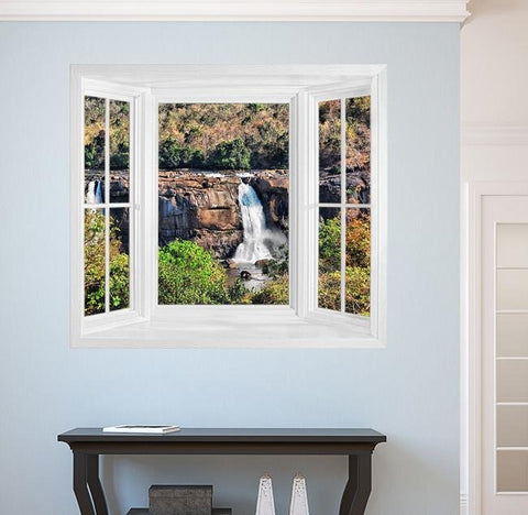 WIM283 - Faux window frame wall mural - Art Fever - Art Fever