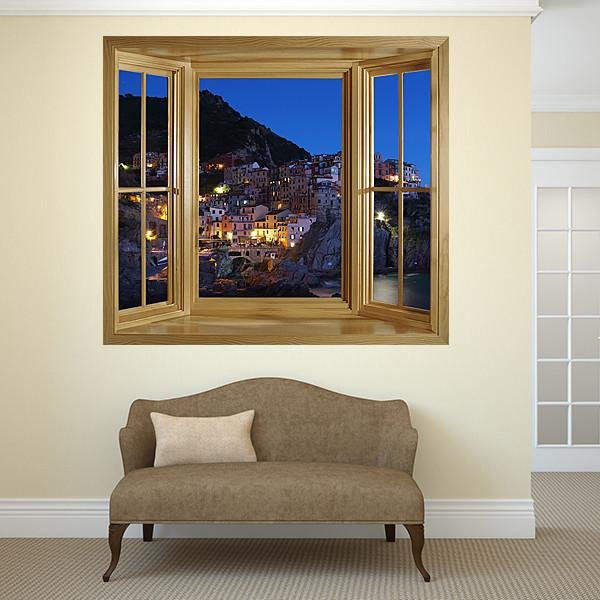 WIM294 - window frame view of the beautiful Cinque Terre - Art Fever - Art Fever