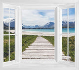 WIM298 - The cove landscape window frame view wall mural - Art Fever - Art Fever