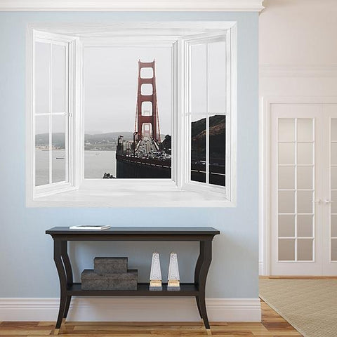 WIM300 - Window Mural view of the golden gate bridge - Art Fever - Art Fever