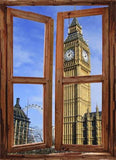 WIM62 - window frame mural view of Big Ben London - Art Fever - Art Fever