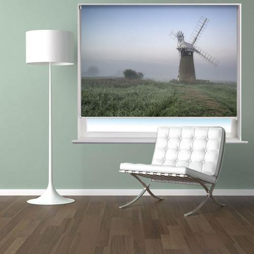 Windmill in the Fog Printed Picture Photo Roller Blind - RB428 - Art Fever - Art Fever