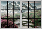 Window View of Mountain Landscape Printed Picture Photo Roller Blind - RB586 - Art Fever - Art Fever