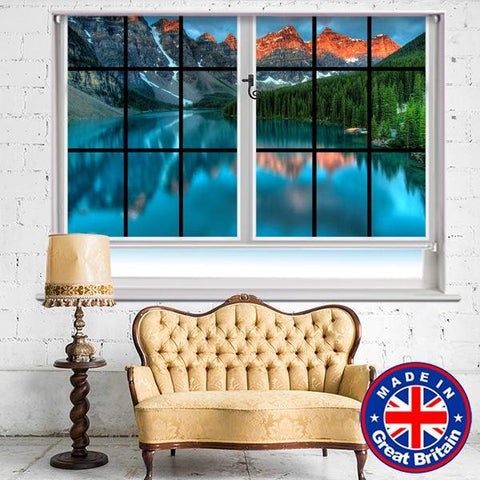 Window View of Peyto Lake Canada Printed Picture Photo Roller Blind - RB587 - Art Fever - Art Fever