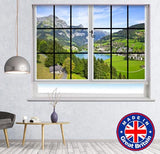 Window View of the Swiss Mountains and Alps Printed Picture Photo Roller Blind - RB588 - Art Fever - Art Fever