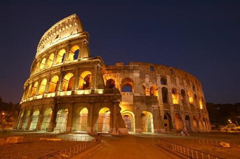 WM102 - THE COLOSSEUM AT NIGHT WALL MURAL - Art Fever - Art Fever