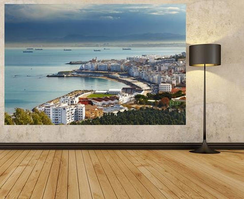 WM108 - ALGIERS THE CAPITAL CITY OF ALGERIA WALL MURAL - Art Fever - Art Fever
