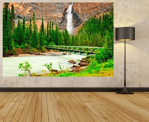 WM111 - Takakkaw Falls Photo Wall Mural - Art Fever - Art Fever